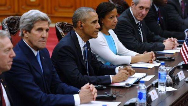 Ngoại trưởng Mỹ tháp tùng Tổng thống Barack Obama thăm Việt Nam ngày 23/5/2016
