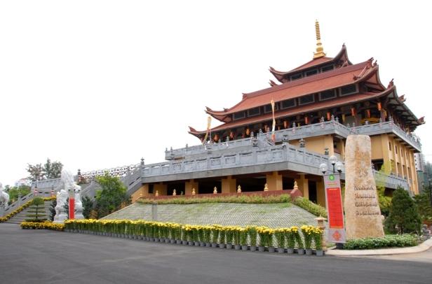 Chùa Huệ Nghiêm, quận 2. Ảnh: internet